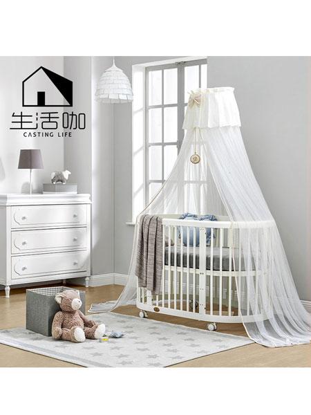生活咖、鲁奇MLO青少年儿童家具多功能实木婴幼儿宝宝床