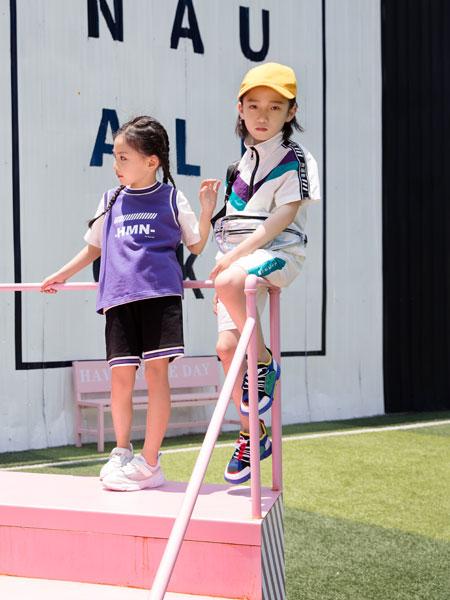 韩米娜风尚童装品牌2019春夏休闲圆领短袖T恤女装上衣
