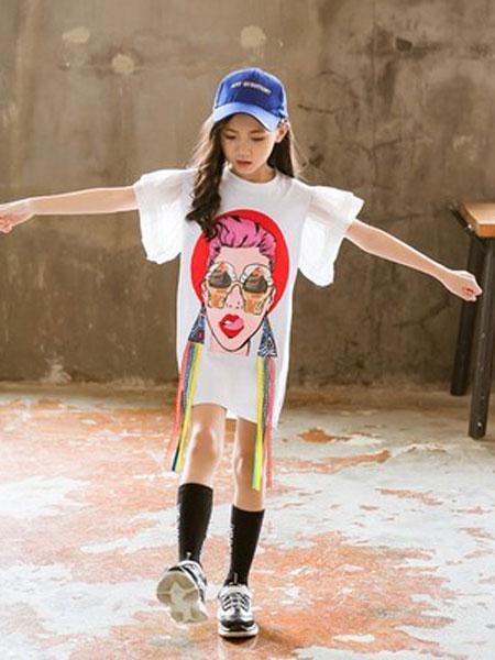 老顽童童装童装品牌2019春夏印花卡通短袖圆领T恤