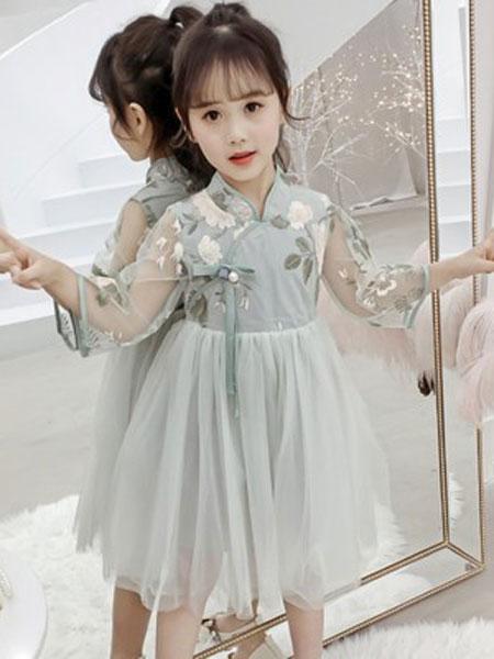 老顽童童装童装品牌2019春夏洋气儿童公主裙