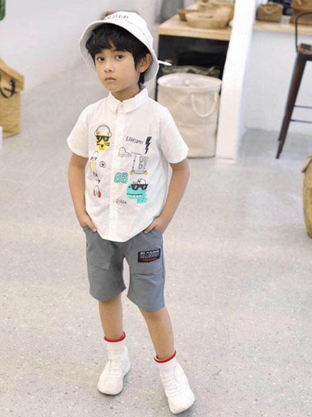 木子MUUZI童�b品牌2019春夏半袖衬衣韩版上衣