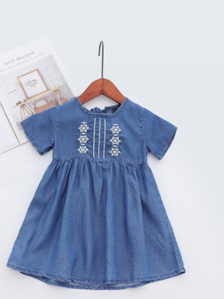 卡托菲童装品牌2019春夏牛仔公主裙
