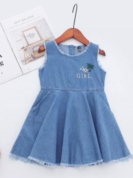 卡托菲童装品牌2019春夏吊带背心裙