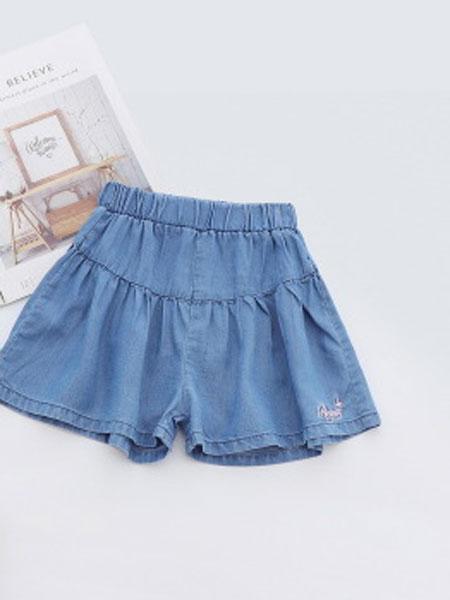 卡托菲童装品牌2019春夏绣水洗牛仔裙裤