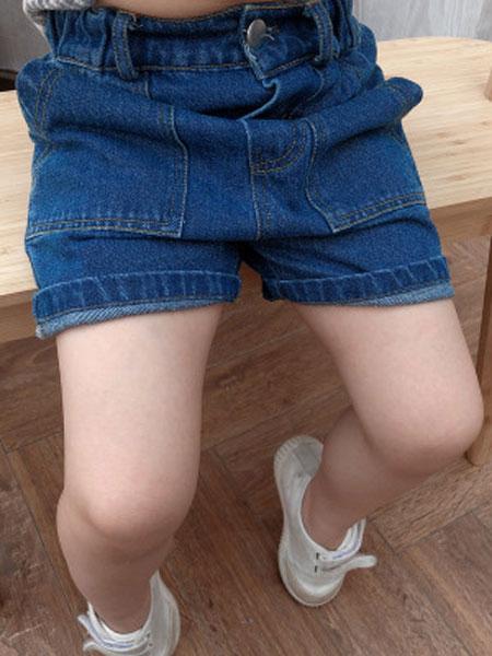 乖小孩童装品牌2019春夏全棉牛仔短裤宝宝时尚牛仔裤子