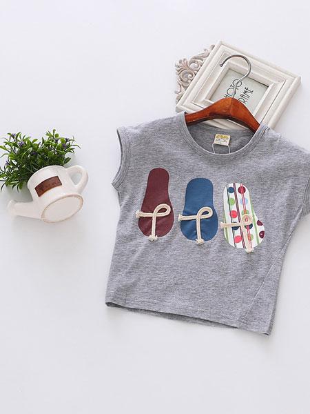 婴婴衣派童装品牌2019春夏短袖t恤韩版