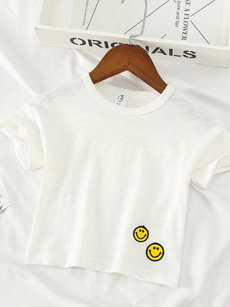 叙素童装品牌2019春夏短袖t恤打底衫