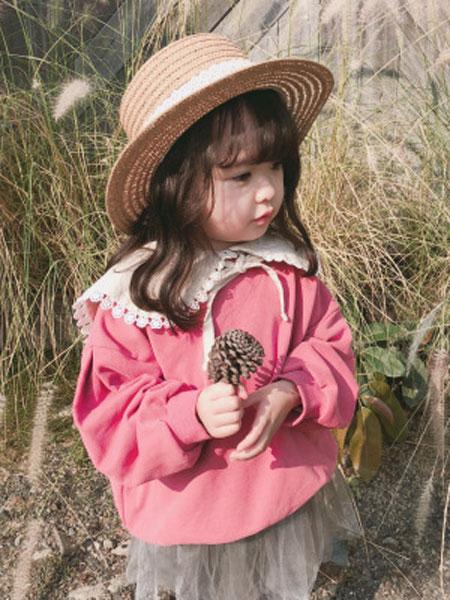 末小蒙童装品2019春夏娃娃领长袖卫衣牌