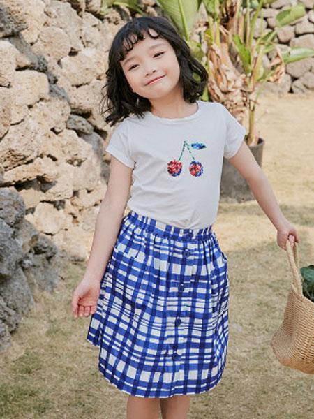 HYSUMICO童装品牌2019春夏卡通樱桃短袖纯棉舒适T恤