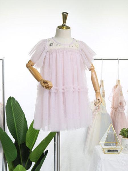 EHHE/卡卡鹿童装品牌2019春夏无袖公主裙子洋气