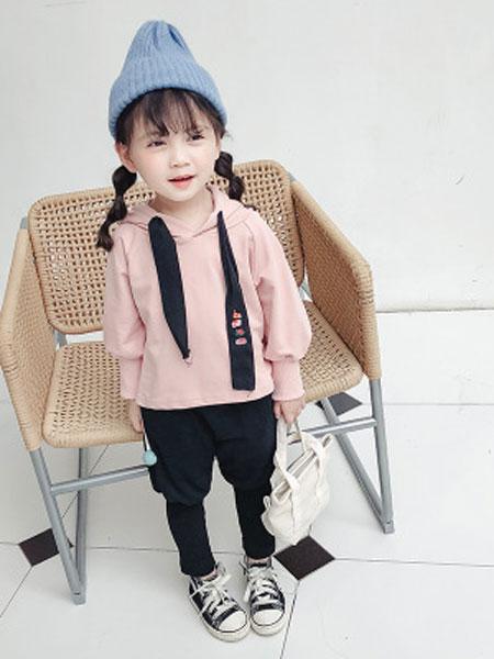蓝色小镇童装品牌2019春夏卫衣两件套宝宝洋气套装