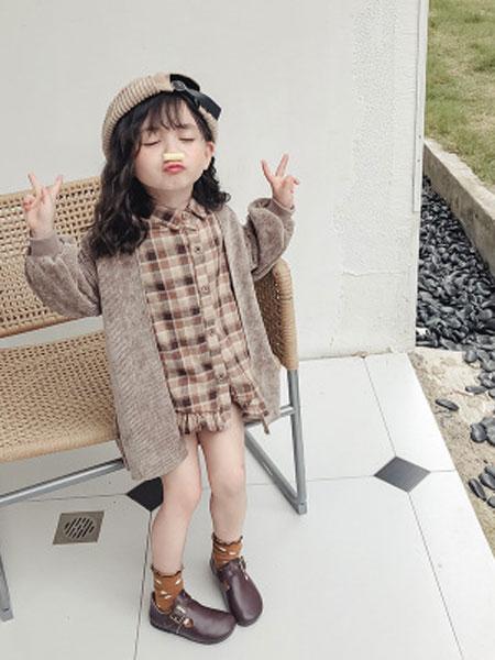 蓝色小镇童装品牌2019春夏创意开衫套装儿童毛衣两件套