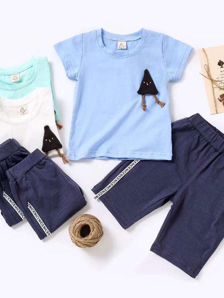 邦米小熊童装品牌2019春夏小童t恤长裤两件套