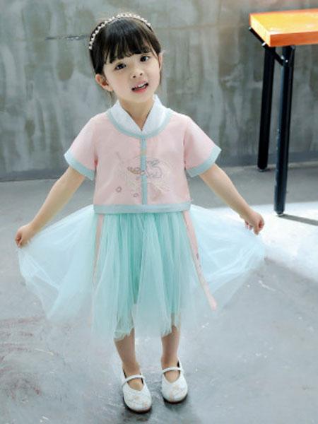 瑞业童装品牌2019春夏中国风复古表演服童装潮