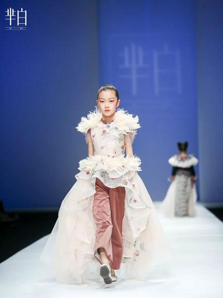 芈白MI BAI童装品牌2019春季走秀礼服裙晚礼服
