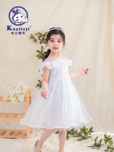 快乐精灵童装品牌2019春夏无袖时尚洋气公主裙