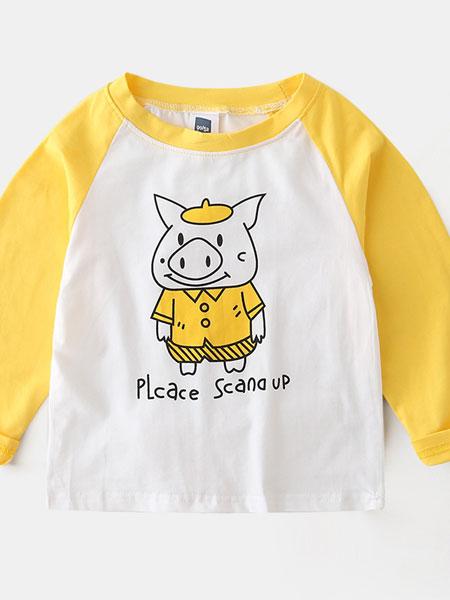 保护伞童装品牌2019春夏纯棉弹力T恤