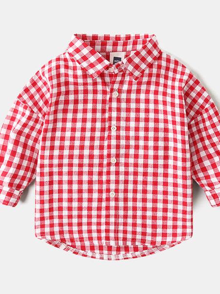 保护伞童装品牌2019春夏格子衬衣