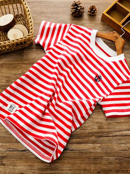 JDK童装品牌2019春夏男童条纹短袖T恤