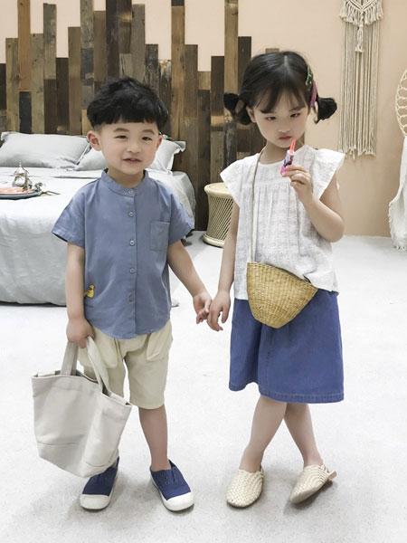 妹妹恩倪童装品牌2019春夏儿童韩版短袖衬衣洋气上衣潮