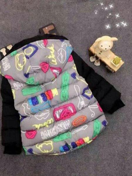 槑槑兔童装品牌2019秋冬加厚棉服宝宝外套中小童棉衣