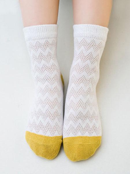 诗远婴童用品宝宝中筒袜 薄款拼色网眼袜