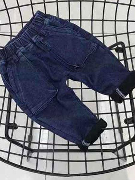 ODEHORSE/澳狄马童装品牌2019春季纯棉加里牛仔裤潮