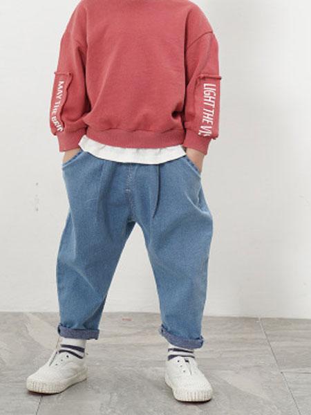 ODEHORSE/澳狄马童装品牌2019春季宽松儿童牛仔裤