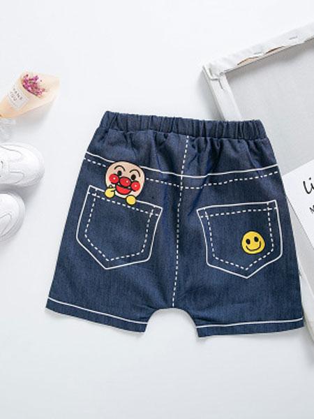 飞阳童装品牌2019春夏软柔的休闲五分裤