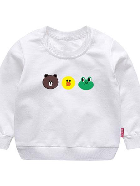 kr baby童装品牌2019春夏儿童卫衣长袖圆领宝宝上衣