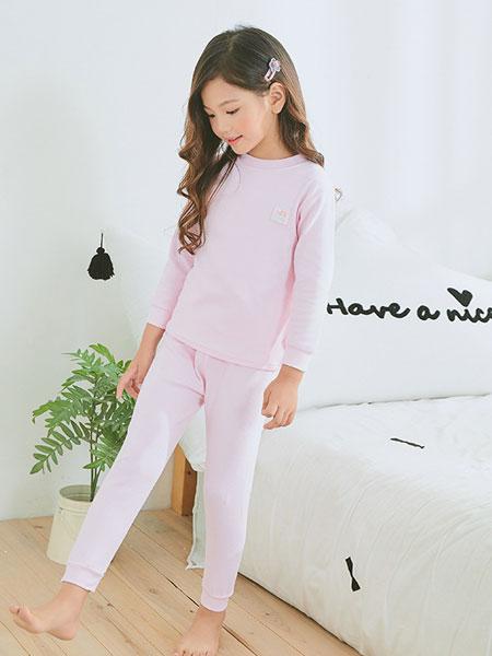 kr baby童装品牌2019春夏儿童保暖内衣套装