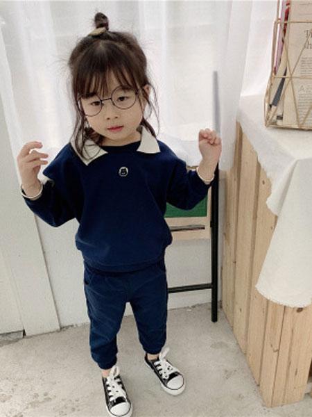 UNIBABY童装品牌2019春夏休闲运动人头套装