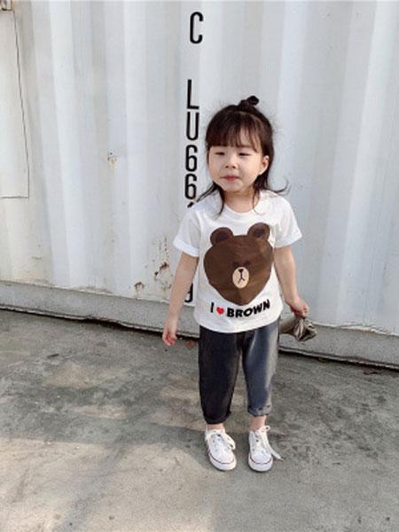 UNIBABY童装品牌2019春夏童 line风卡通tee
