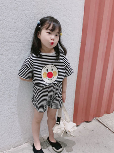UNIBABY童装品牌2019春夏四色条纹套装