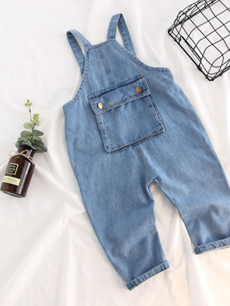 哈霓宝贝童装品牌2019春夏牛仔背带裤