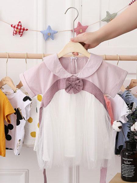 穗哲童装品牌2019春夏中国风汉服连衣裙