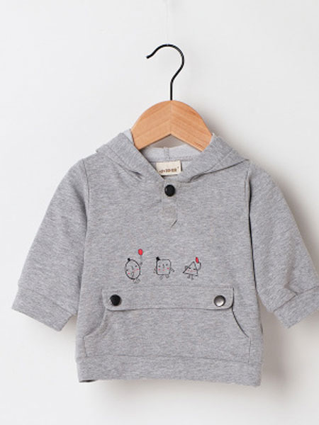 XIAOSHALI/小沙粒童装品牌2019春季长袖上衣卡通动物印花