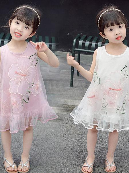 舒杨童装童装品牌2019春夏时尚荷花纱裙