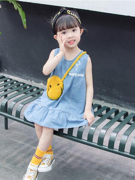 舒杨童装童装品牌2019春夏时尚牛仔裙