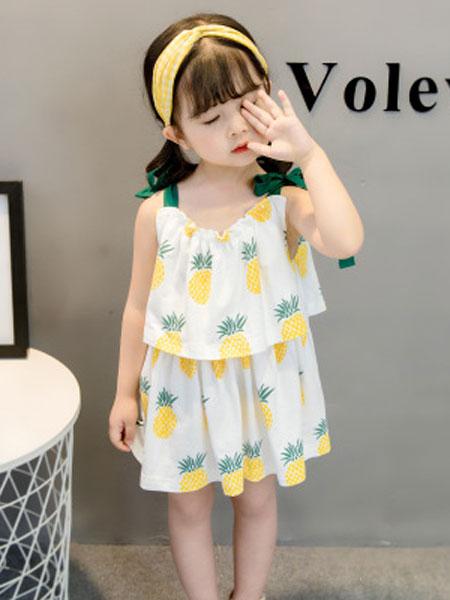 舒杨童装童装品牌2019春夏菠萝连衣裙