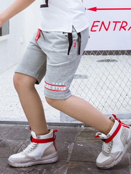 奥酷拉童装品牌2019春夏纯棉工装短裤