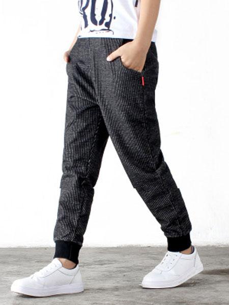 奥酷拉童装品牌2019春夏纯棉宽松休闲儿童裤子