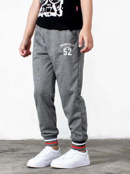 奥酷拉童装品牌2019春夏纯棉休闲裤运动裤