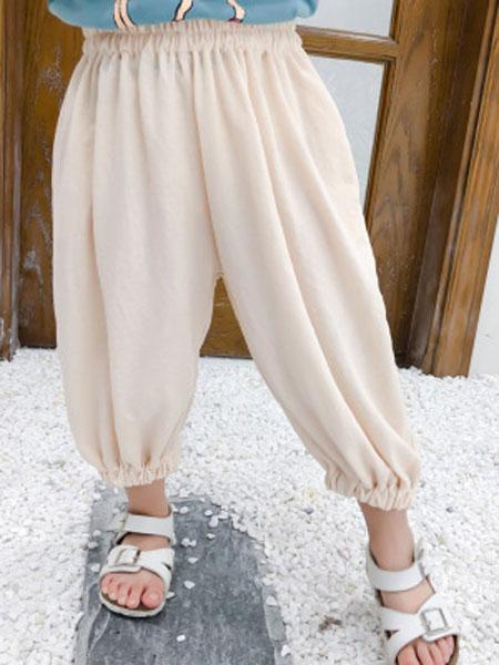 nice童品童装童装品牌2019春夏韩版清凉防蚊裤宽松洋气灯笼裤