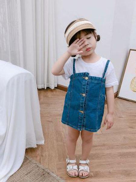 nice童品童装童装品牌2019春夏牛仔裙童装女童吊带裙中小童裙子