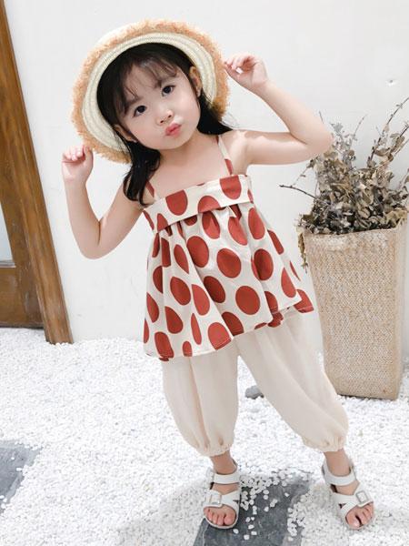 nice童品童装童装品牌2019春夏韩版时尚波点童装儿童中小童上衣