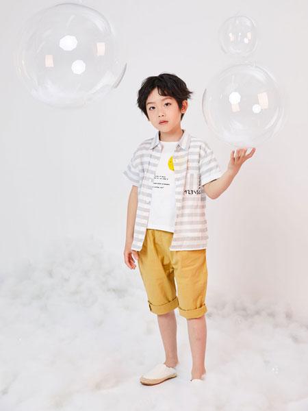DC童装童装品牌2019春夏条纹衬衫外套