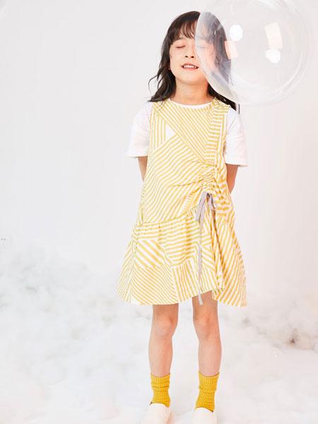 DC童装童装品牌2019春夏条纹休闲连衣裙