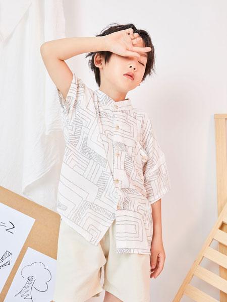 DC童装童装品牌2019春夏时尚印花衬衫