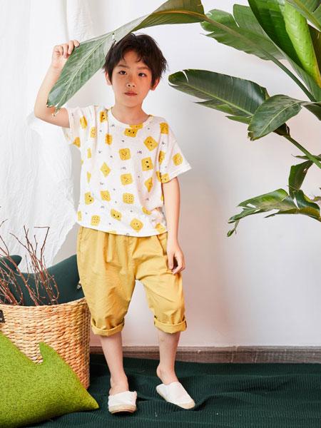 DC童装童装品牌2019春夏圆领印花短袖上衣